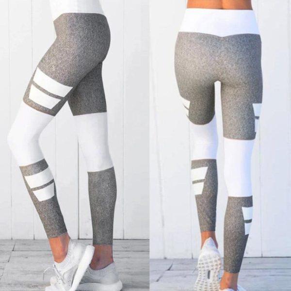 Dokonalé dámské šedé prodyšné fitness legíny