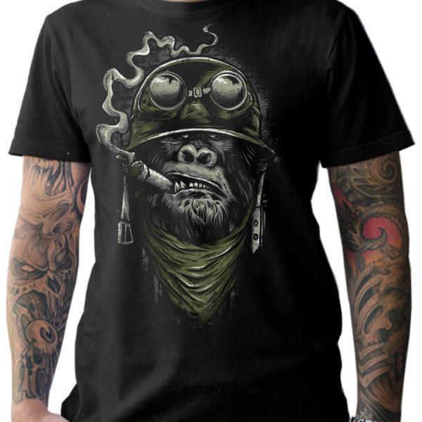 Pánské stylové triko s krátkým rukávem a potiskem Old School