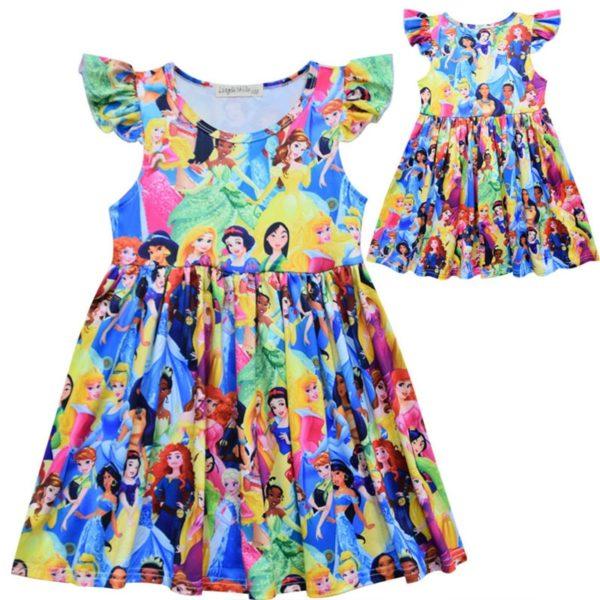 Letní roztomilé šaty s potiskem princezen