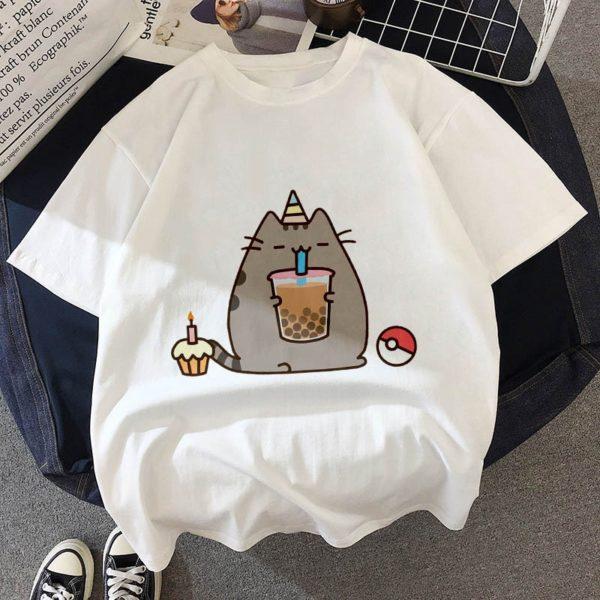 Roztomilé kawaii tričko s oblíbenou kočičkou pro děti