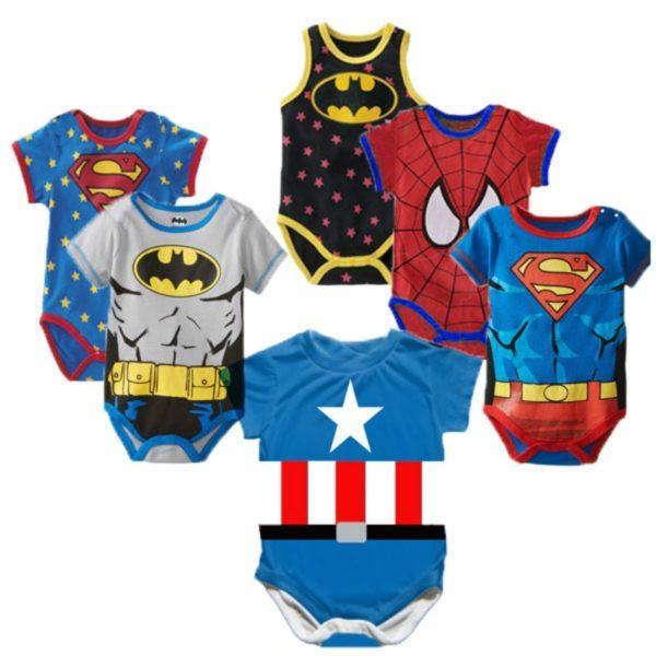 Dětská letní body pro novorozence se superhrdiny