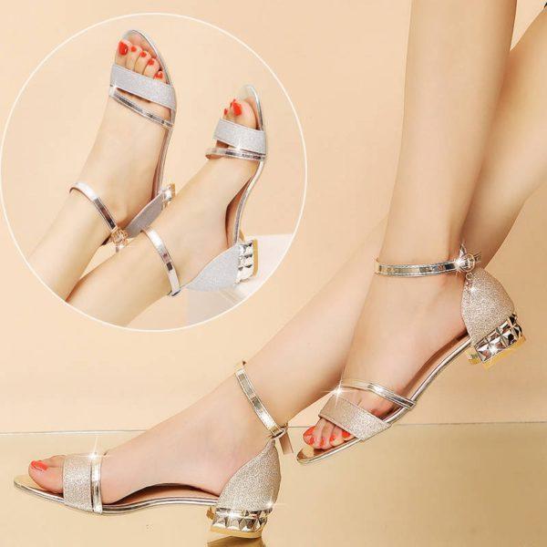 Dámské letní třpytivé sandálky