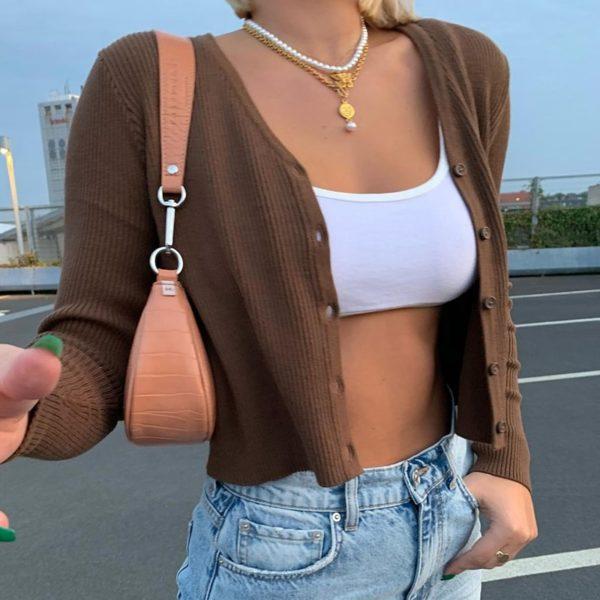 Dámský módní svetřík do pasu Camila