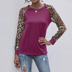 Dámské tričko s tygřím vzorem a dlouhým rukávem