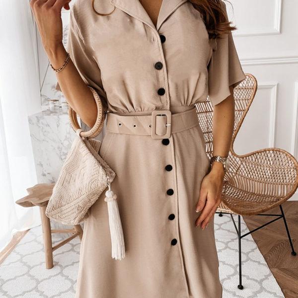 Dámské elegantní propínací midi šaty