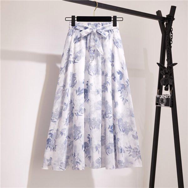Dámská volá šifonová elegantní sukně