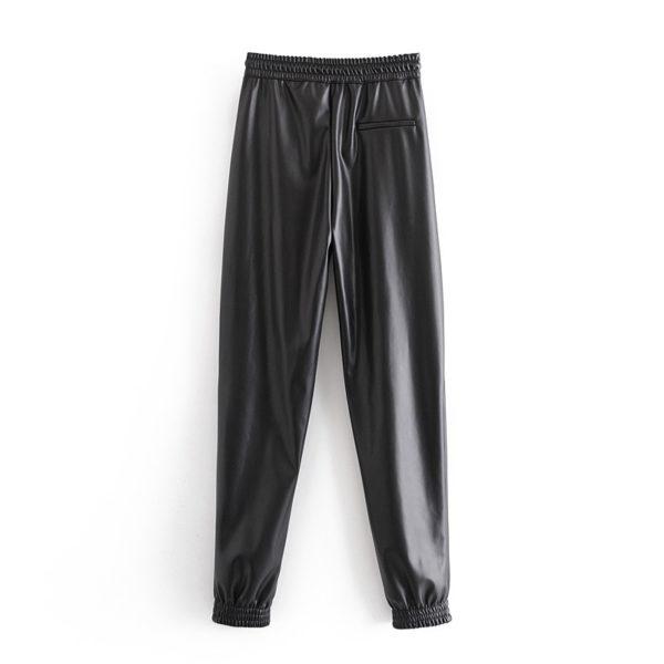 Lesklé elastické kalhoty Carmen
