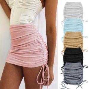 Módní sexy stahovací mini sukně