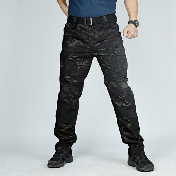 Pánské vojenské kalhoty s kapsami