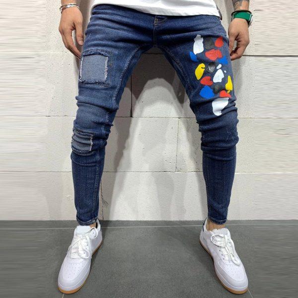 Pánské casual denimové kalhoty