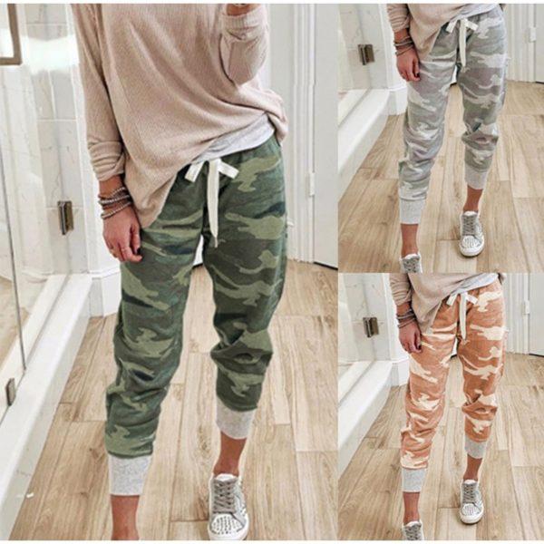 Dámské maskáčové oblíbené kalhoty ve více variantách