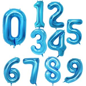 Modrá narozeninová nafukovací čísla