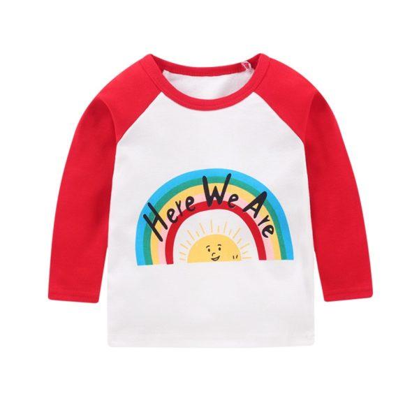 Jarní bavlněné dětské unisex triko s dlouhým rukávem - více variant