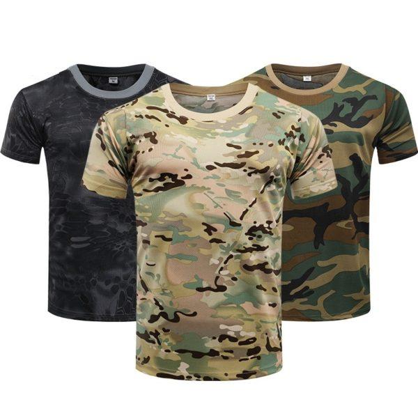 Pánské vojenské tričko s krátkým rukávem