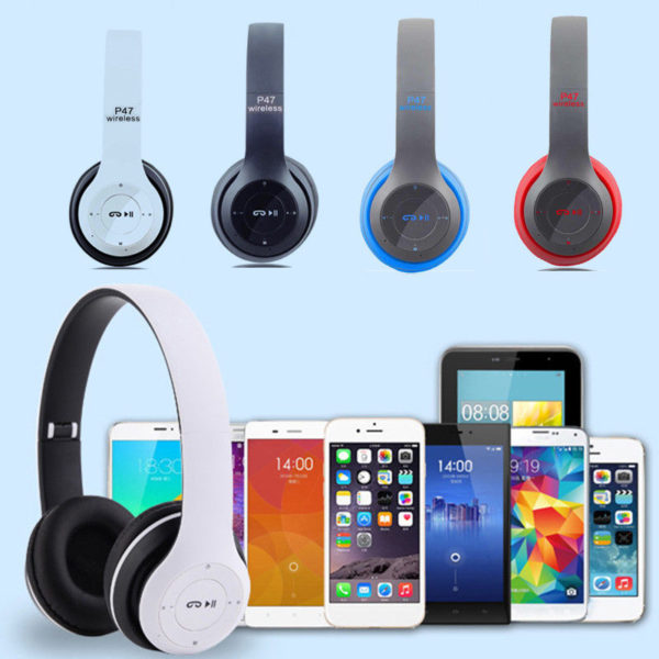 Stylové bluetooth/wireless sluchátka s tlačítky
