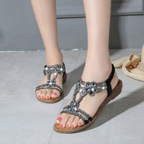 Dámské letní sandálky s ozdobnými kamínky Zoe