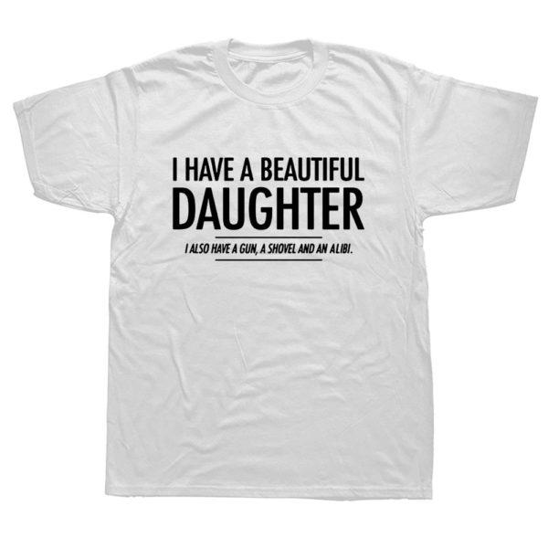 Vtipné triko 'Daughter' pro otce