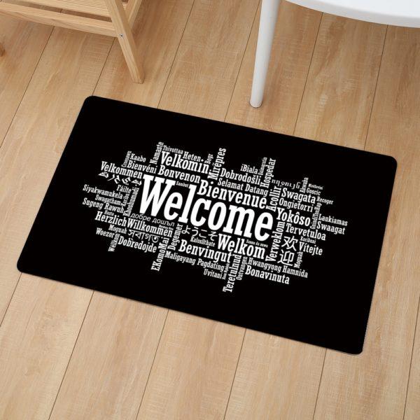 Uvítací černá oblíbená rohožka
