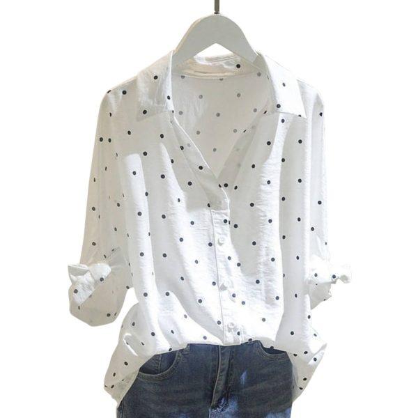 Dámská ležérní košilová halenka v Plus Size velikostech