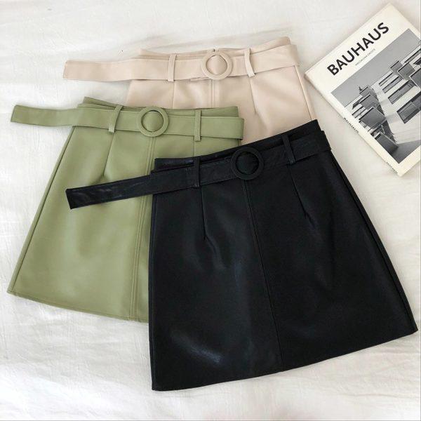 Dámská moderní koženková mini sukně Lola