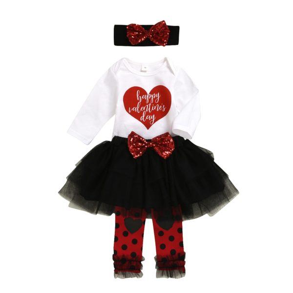 Dětský set pro holčičku sukně + body + čelenka