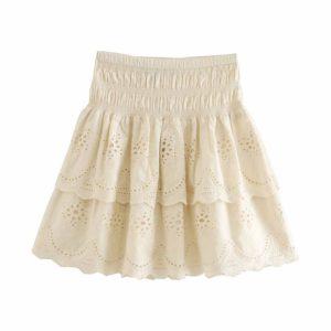 Dámská letní vyšívaná mini sukně