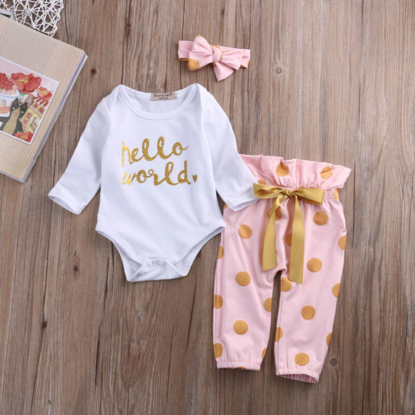 Novorozenecký set oblečení s čelenkou
