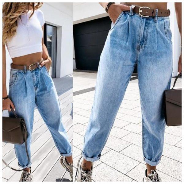 Dámské boyfriend modré džíny