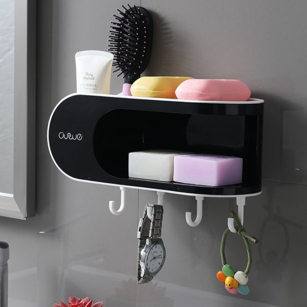 Víceúčelový koupelnový držák na mýdlo