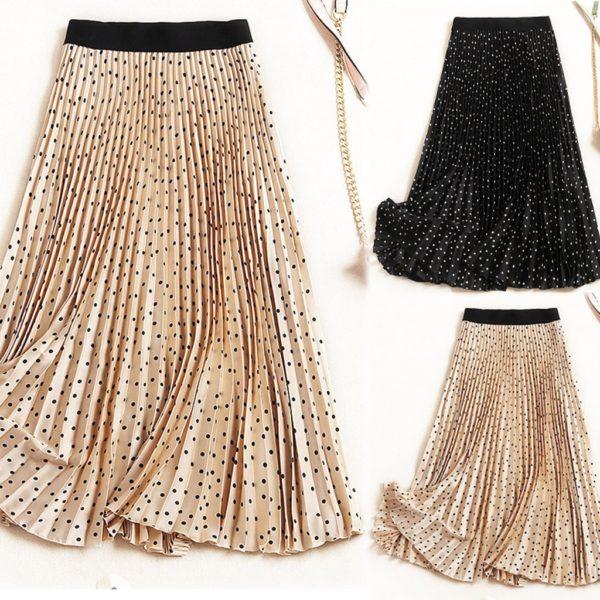 Dámská dlouhá skládaná maxi sukně