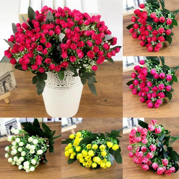 Krásné umělé růžičky v několika barvách