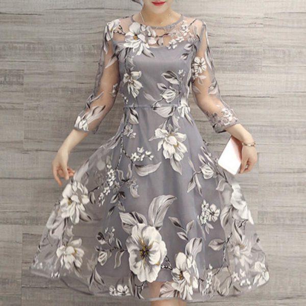 Dámské letní květinové šaty po kolena
