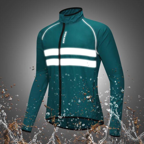 Pánská voděodolná sportovní reflexní bunda