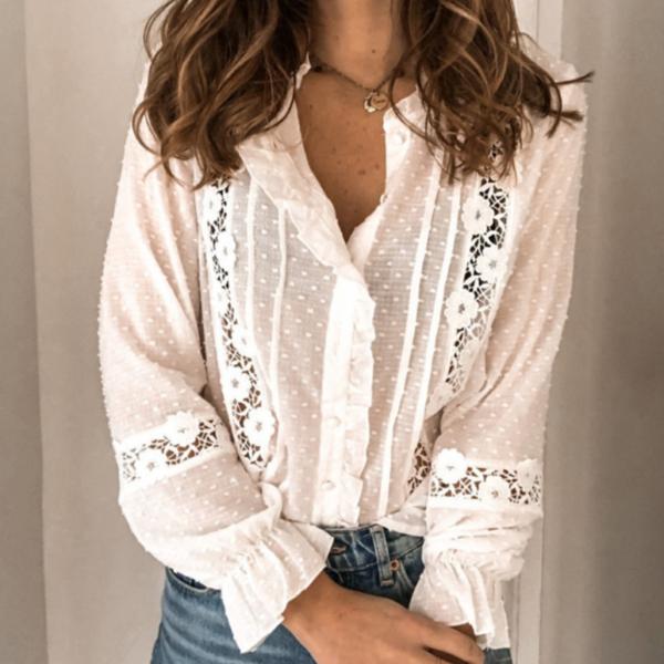 Dámská krajková košilová halenka