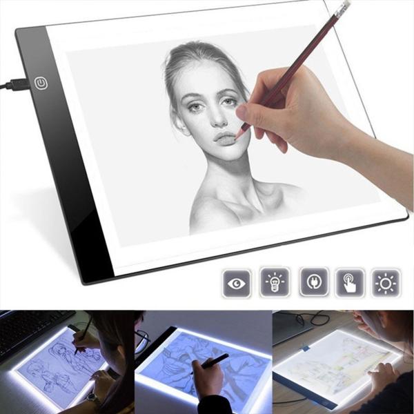 Vysoce tenká USB umělecká světelná podložka na kreslení A4
