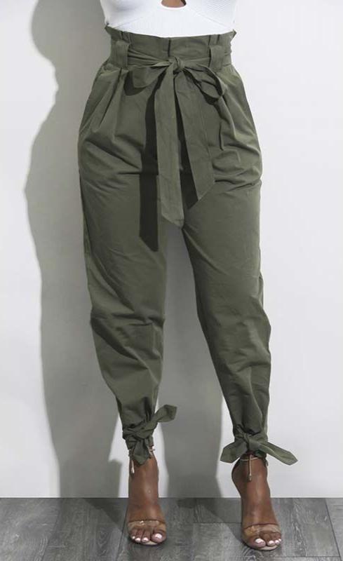 Dámské volné letní kalhoty s vysokým pasem Jodi