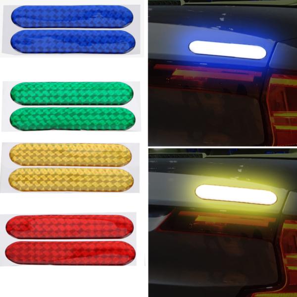 Reflexní samolepky na dveře auta