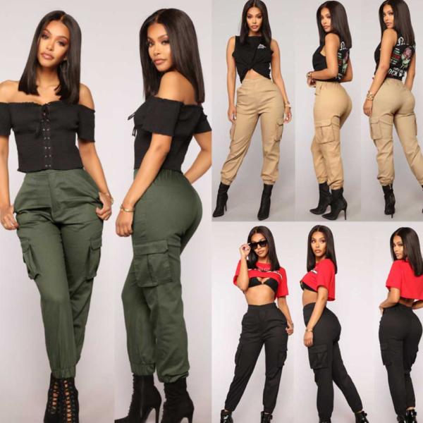 Dámské jarní kalhoty v army stylu
