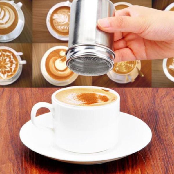 Zdobící sítko a šablony na kávu - sada