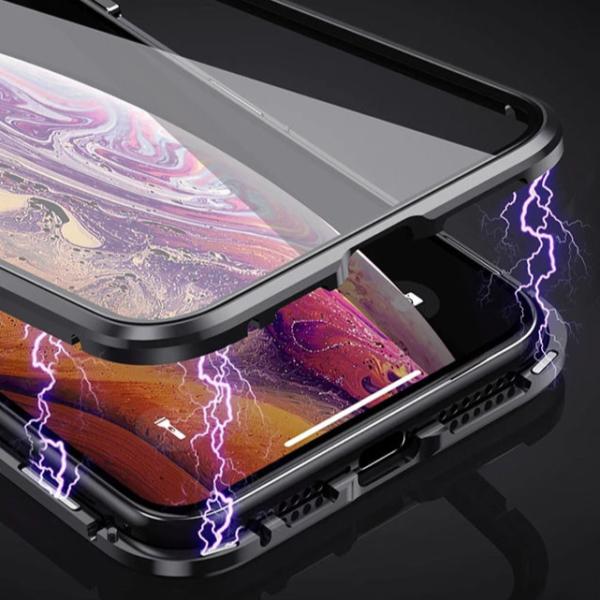 Magnetické oboustranné skleněné pouzdro na různé druhy iPhonů