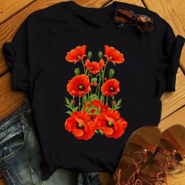 Dámské ležérní tričko s nádherným květinovým potiskem