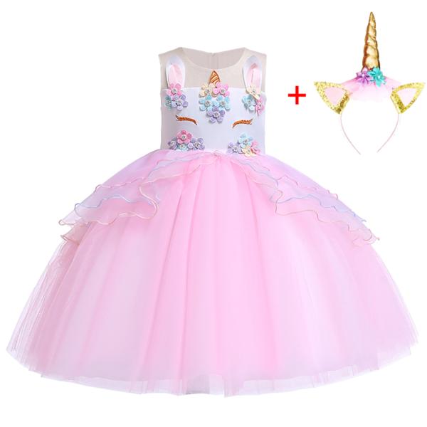 Dívčí princeznovské šaty s jednorožcem