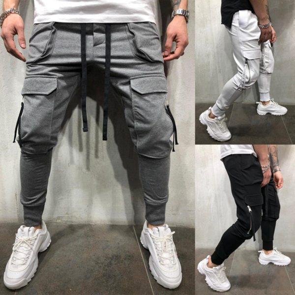 Pánské volnočasové jogger kalhoty s kapsami