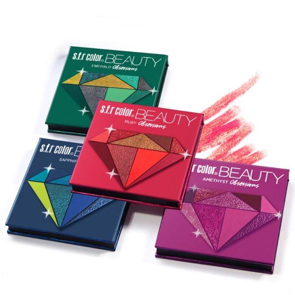 Luxusní oční paletka barevných očních stínů