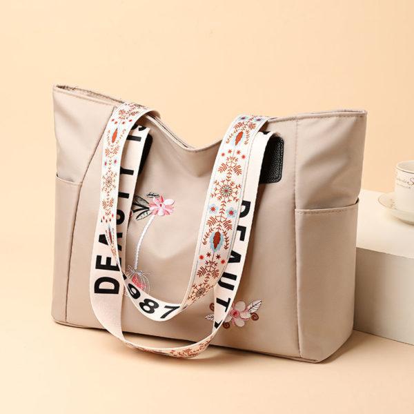Dámská módní kabelka na rameno s jednoduchým potiskem květin