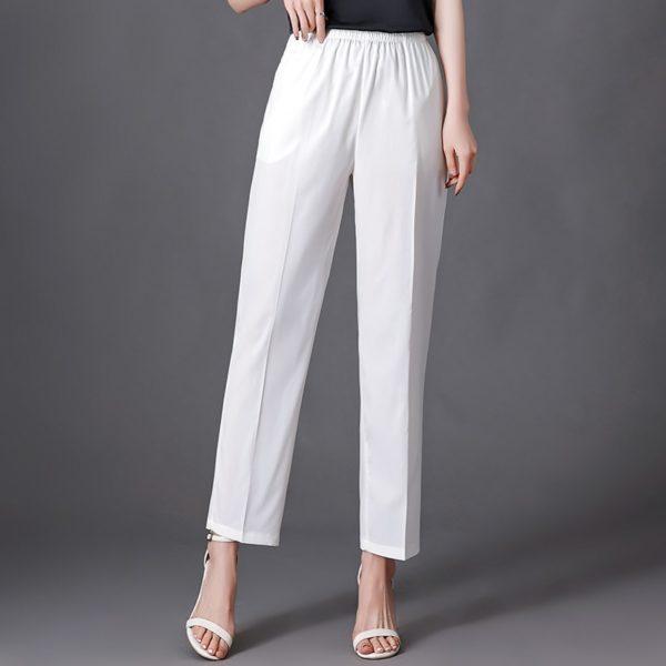 Dámské neformální kalhoty s vysokým pasem Victoria