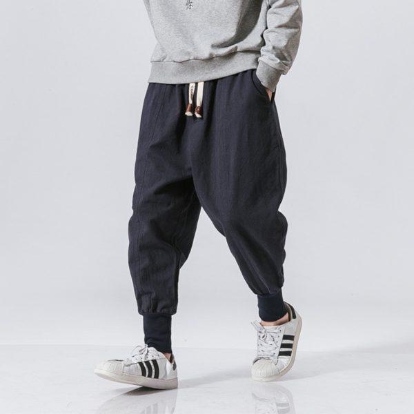 Pánské bavlněné harémové kalhoty