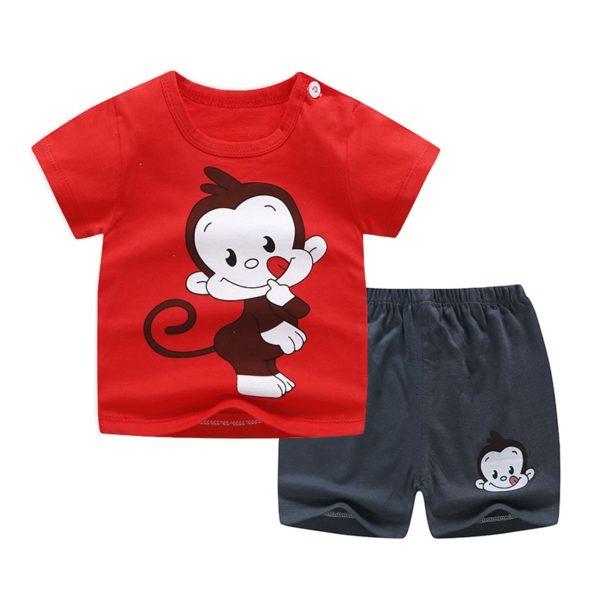 Sada dětských kraťásků a trička s krátkým rukávem