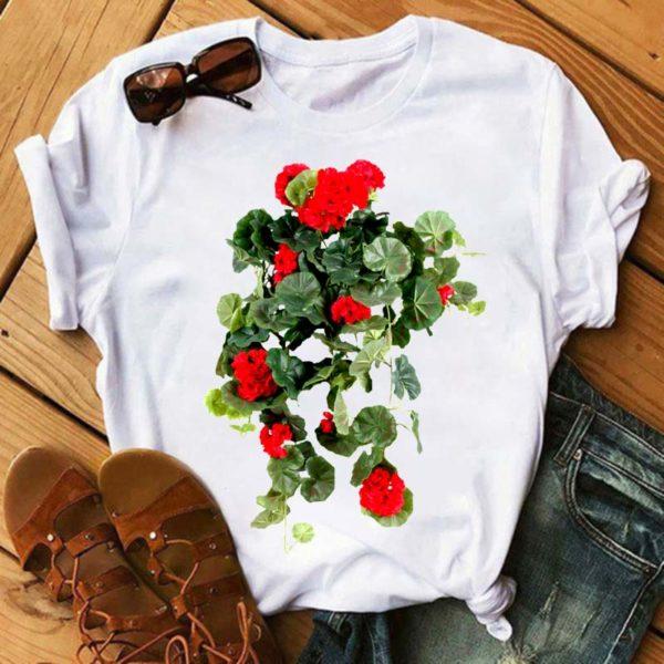 Ležérní dámské tričko s nádherným potiskem květin