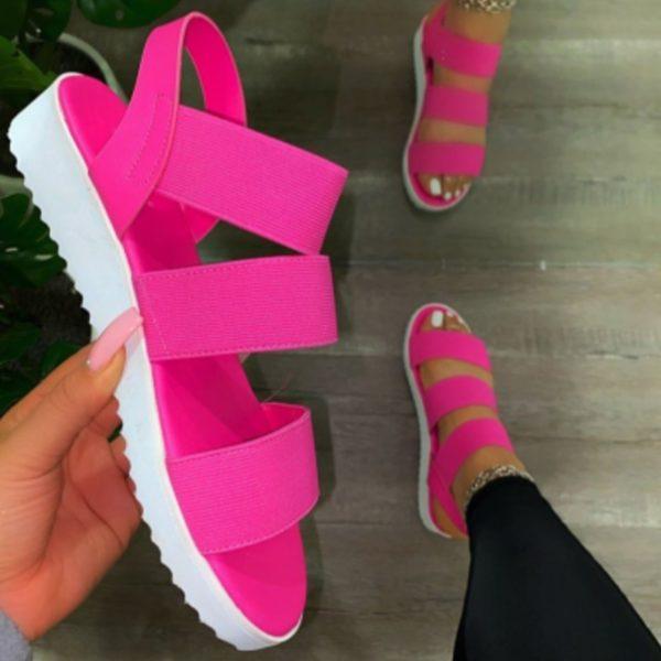 Dámské letní sandálky na platformě